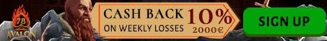 10% free cashback bonus