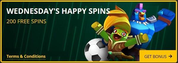 Happy Free Spins Rewards