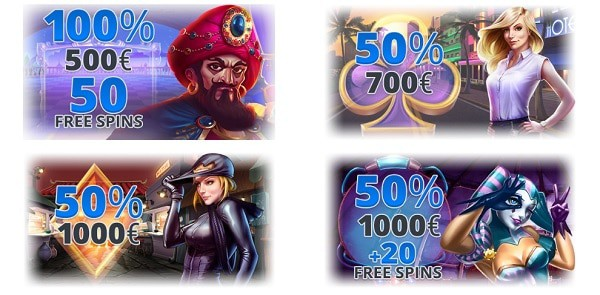 Ego welcome bonus, free spins, promotions