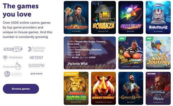 The casino games you love!