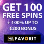 Mr Favorit Casino - free spins, VIP promotions, bonus codes