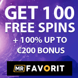 Register at MrFavorit.com and play with 100 free spins!