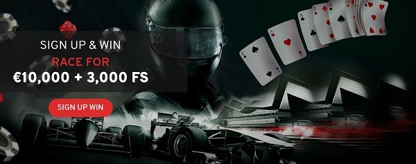 Exclusive Race and Slot Tournaments with cash prizes and free spins