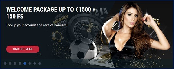 Exclusibve Offers: 1500 EUR and 150 free rounds