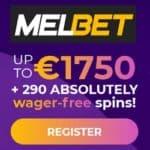 MELbet Casino 290 free spins on registration (no wagering bonus)
