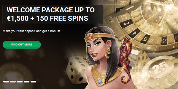 1500 EUR and 150 Free Spins
