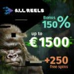 All Reels Casino 250 free spins & 1500 euro exclusive bonus