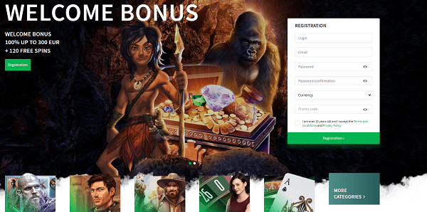 Register your account today and collect free spins and free money bonus!