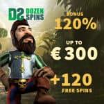 Dozen Spins Casino 120 free spins and 300 euro exclusive bonus