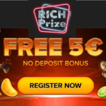 Rich Prize Casino [register & login] 5€ free money bonus