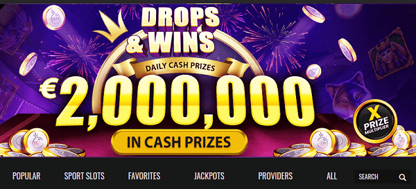 2,000,000 EUR Daily Drops Promotion