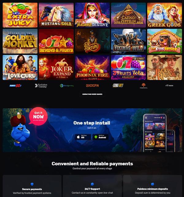 Casinomia.com Free Spins
