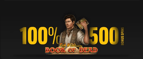 500 spins on Book of Dead