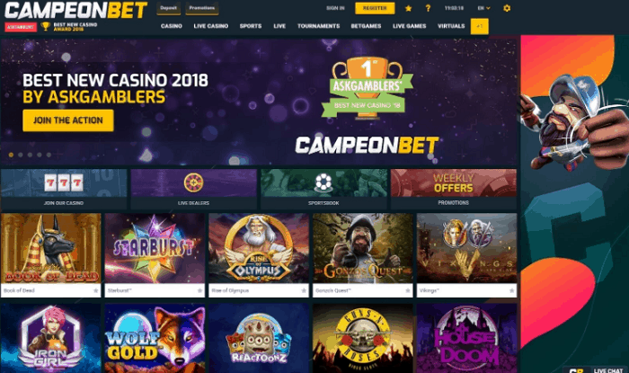 Register at CampeonBet