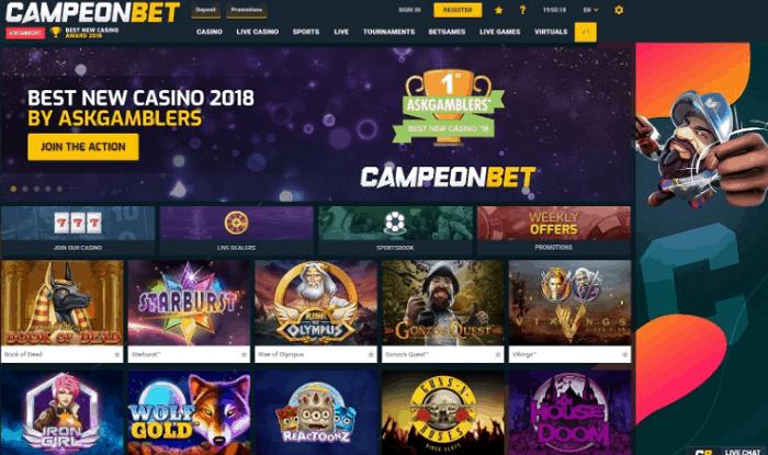 Register at CampeonBet