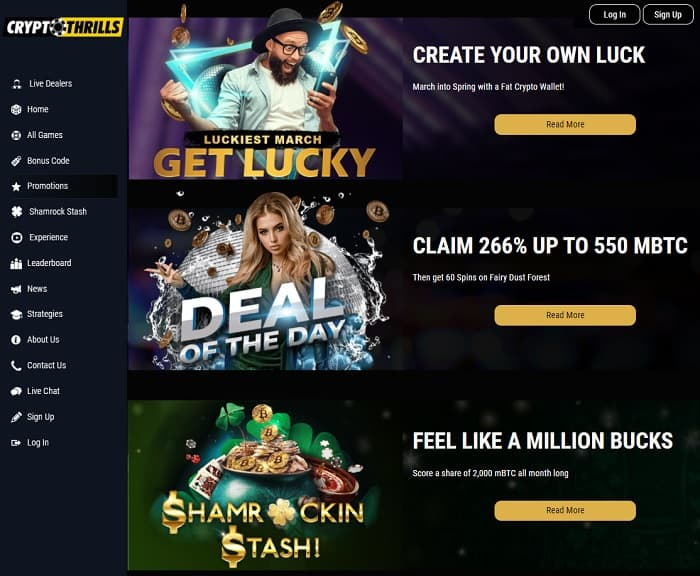 Crypto Thrillz Casino Online Review