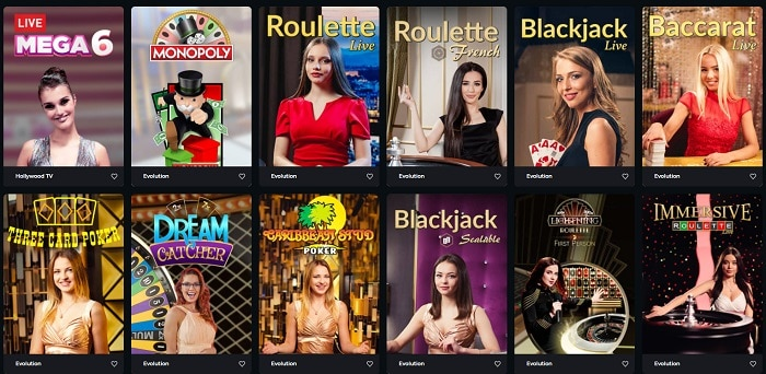 Boomerang Casino Live Dealer