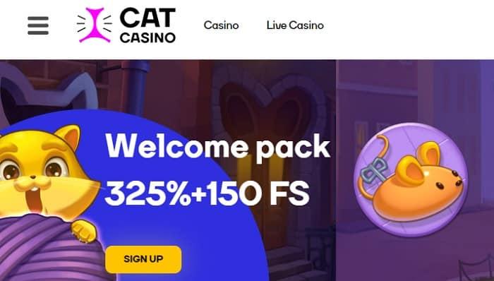 325% bonus and 150 free rounds