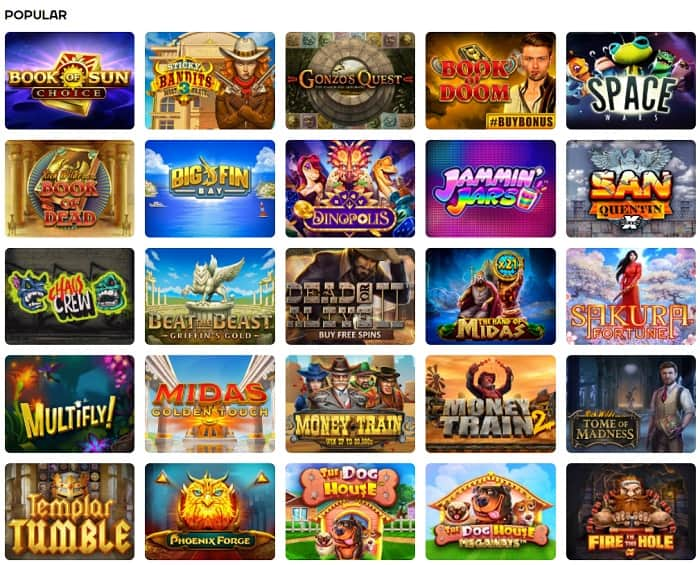 New casino games and promotions!