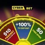 Cyber.bet Casino $10 free bet + 100% bonus + 50 free spins