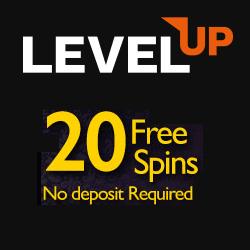 LevelUp Casino 20 FS banner