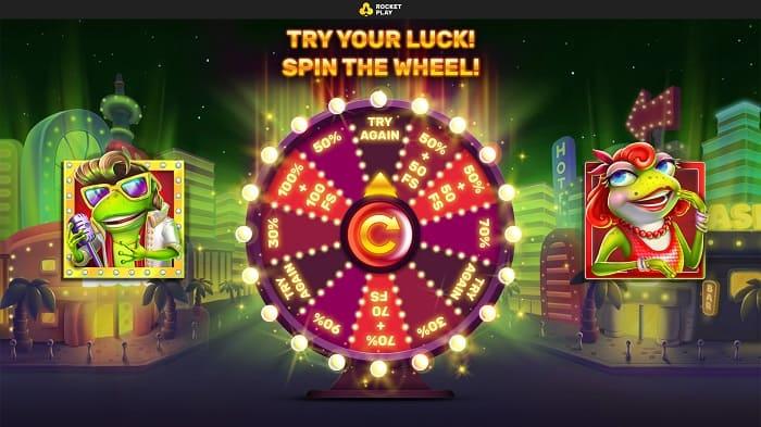 Rocket Play Bonus Wheel