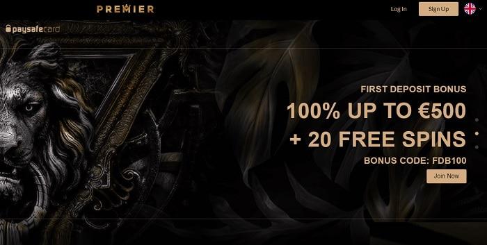 Premier 20 gratis spins bonus