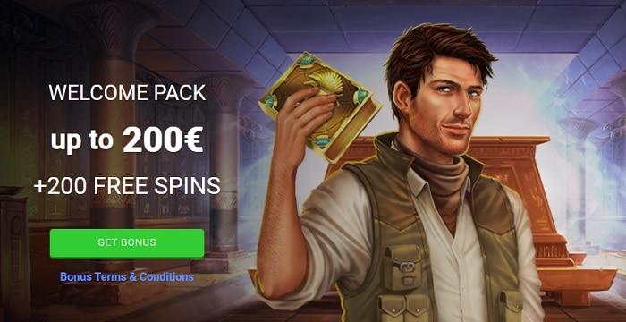 200 EUR and 200 Free Spins Bonus