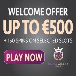 Royal Valley Casino bonus banner